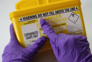 There's Safety in a Sharps Container