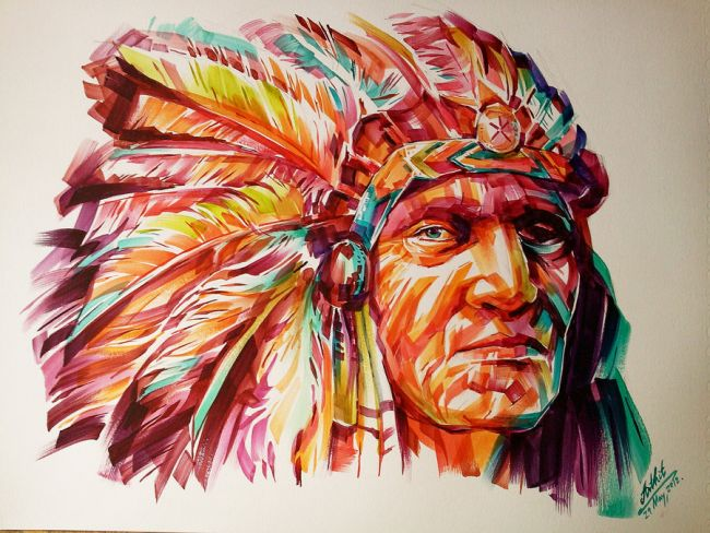 Why Red Indians Used Feather Quills?