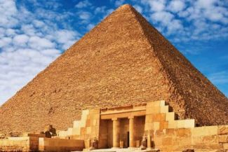 Inside the great pyramid
